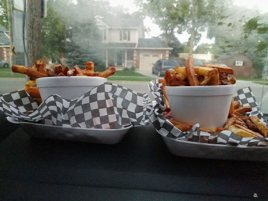 Oasis Drive-In: We suggest you share our large, fresh-cut fries as there is enough for 2 people to eat!