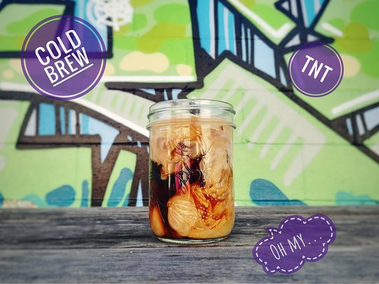 The Stick In The Mud Coffee House: Stuff we make! Cold Brew secret recipe is the Most Important component of our summertime drink, the TNT. (That stands for The New Thing!)