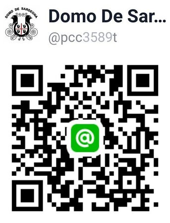 ➡️ 趕快掃描這個QR code或用ID搜尋@pcc3589t,把我們加為好友,一起建立更容易溝通的管道!別忘了加入後發個貼圖或打聲招呼,讓我們知道您與我們同在~  😍 也敬請把您對Domo De Sardegna的認同,協助分享給身邊的親朋好友知道,讓更多的人有機會認識我們,一起來享用認真、道地的義大利第二大島-薩丁尼亞島的傳統家鄉美食,感恩。  Our line accout has been setup.  Add Domo by QR code or ID:@pcc3589t then send line sticker to let us know you are with us. A way to make reservation or contact us when you like to do it quietly.
