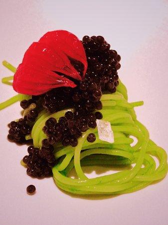 Okibi Kawaguchi: Miyazaki caviar and green onions