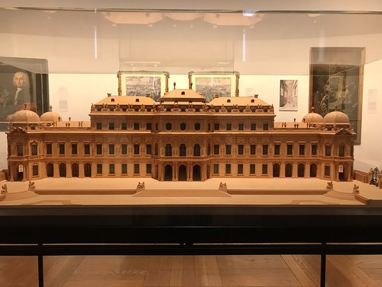 The model of the museum on the first floor.