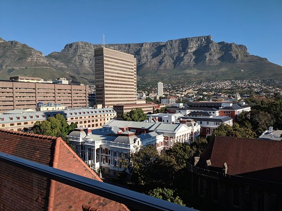 Taj Cape Town: View from one of our two balconies. This was from the balcony off the living room.