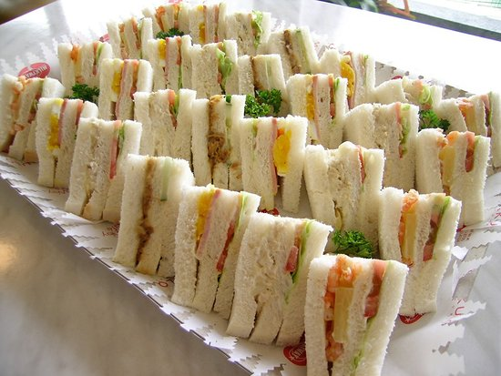 MilkyWay Sandwich Tray with 28 triangles - Chicken Asparagus, Ham Salad, Shrimp Hawaiian and Adobocucumber Sandwiches