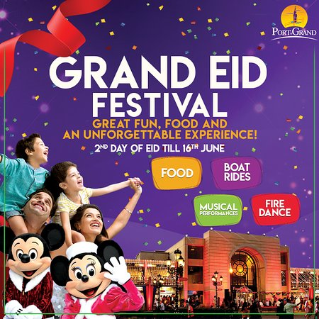 Celebrate in Grand Eid Festival at Port Grand with fun rides, delicious food, musical performances and much more in Rs 300. #EID #PortGrand #GrandEidFestival