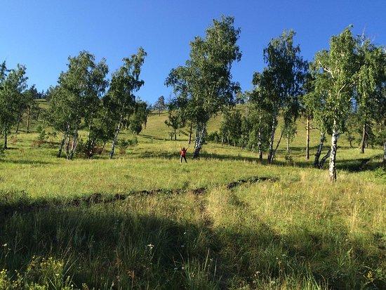Syrostan, روسيا: Виды в гору около села Сыростан