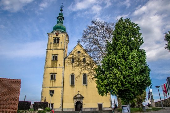 Samobor, Croatia: A beautiful early Baroque church of Saint Anastasia is definitely one of the most known landmarks of the town.