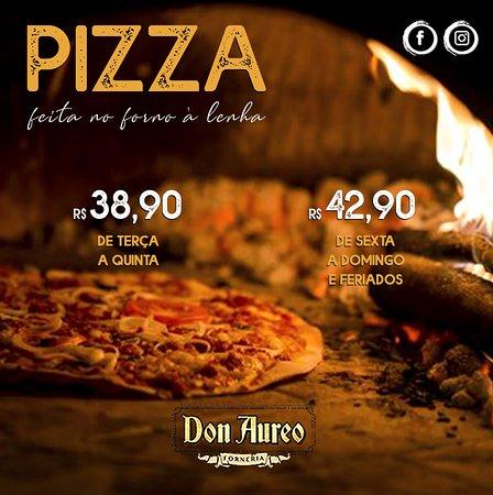 Don Aureo Forneria: Contamos com mais de 70 sabores de pizzas, 08 tipos de risotos, 08 tipos de massas e porções especiais.  ☎ Reservas (45) 3039-3334 📍 Rua Pernambuco, 1044