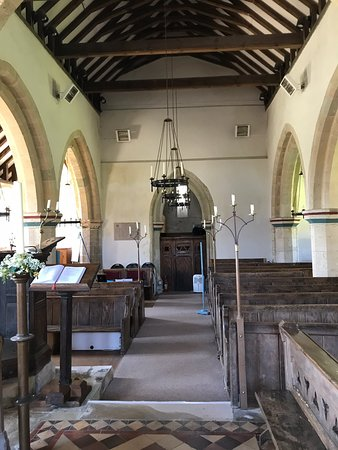 Brighstone, UK: Interior and exterior views of the church