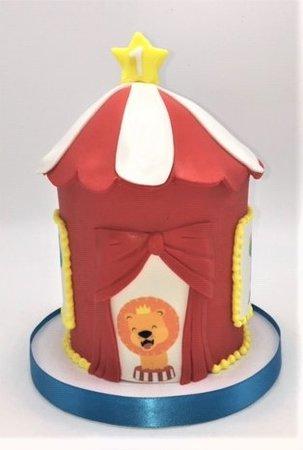circus tent animal cake