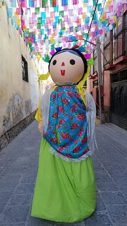 The Mexican Maria mojiganga is ready to perform.