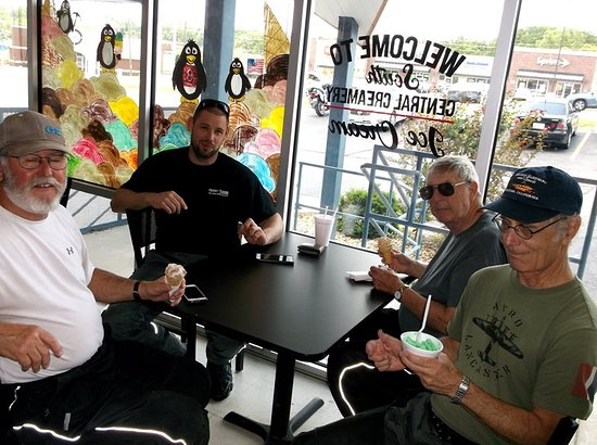 South Central Creamery: Some of the ten friends who rode in to check out this Shoppe.