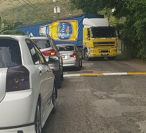 St. Lucia local (Piton beer) truck
