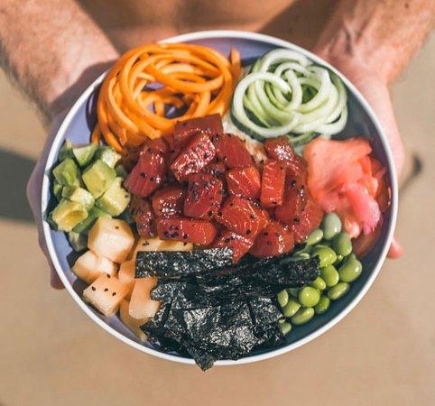 Ahi Tuna poke bowl