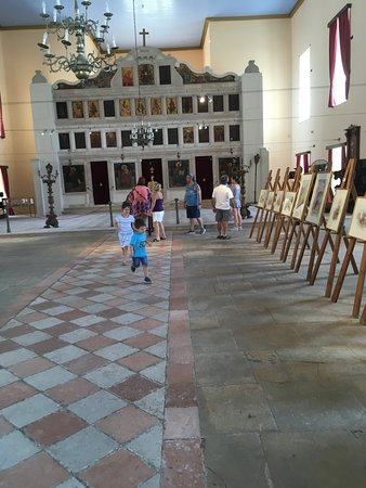 Main nave of Saint Georges Church used for art displays.