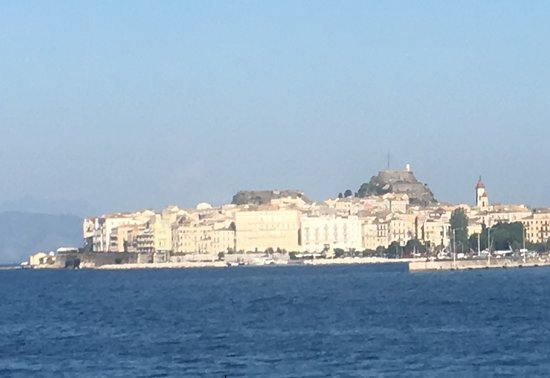 View of old town and Fortress from the Sea