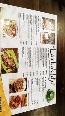 Lombok Idjo Surabaya: menu