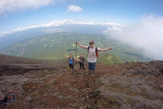 Climbing the Concepción volcano in...