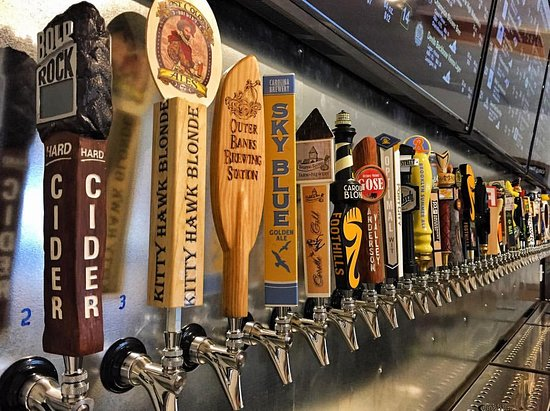 Duck, NC: Up to 42 taps featuring Outer Banks breweries, the best of North Carolina and national favorites!