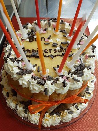 charlotte au chocolat d'anniversaire (maison)