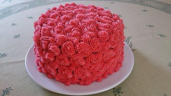 Le Piano Gourmand: Gâteau rose framboise (maison)