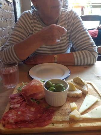 Rustico Hastings: Antipasto is a good start. Olives rather bland though.
