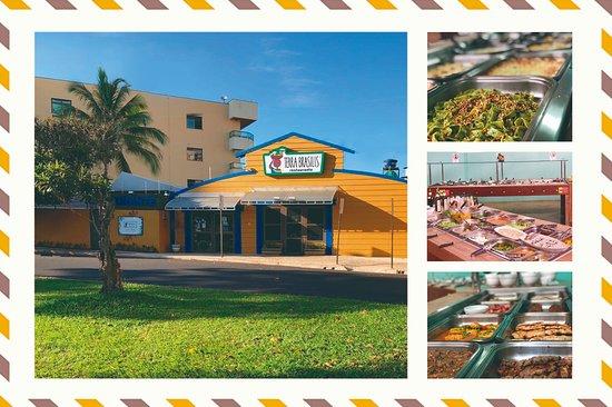 Terra Brasilis Restaurante: Nossa fachada e um pouco de nossos pratos e saladas.