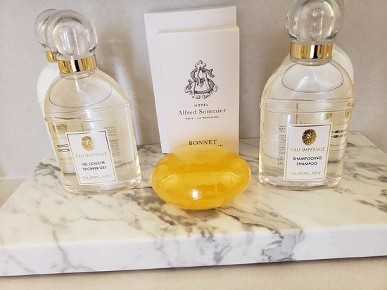 Hotel Alfred Sommier: Fantastic scented bath products!