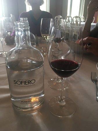 Sofiero Slottsrestaurang: Spansk vin og svensk vand