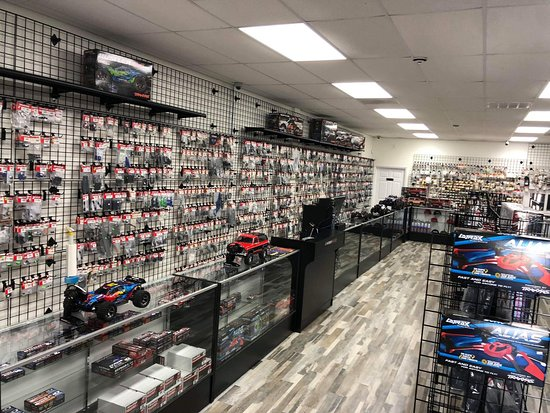Stafford, TX: Come on in and test-drive one of our Traxxas vehicles! Plenty of parts to support your car & truck, when you break something :)
