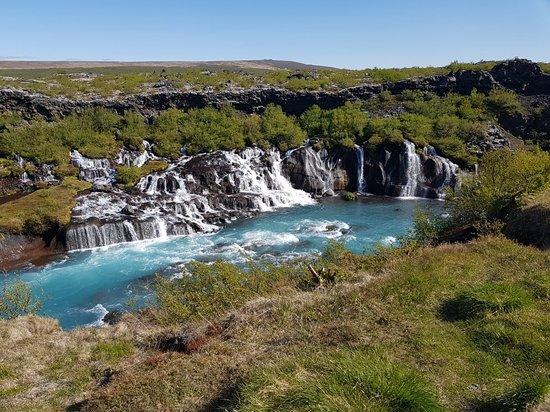 Hraunfossar Lava Waterfall