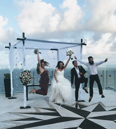 Beach Palace Sky Wedding Deck