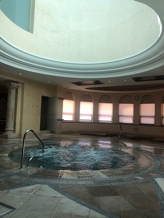 Natural sunlight above the hot tub
