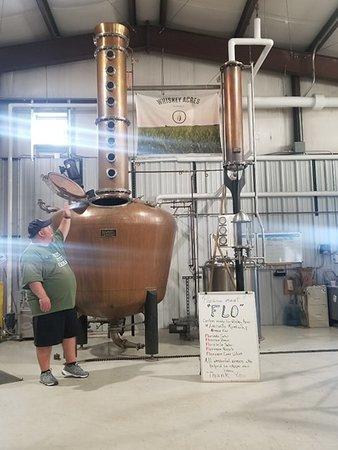 Jim describing the distilling process