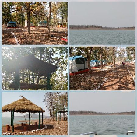 Khandwa District, Inde : Boriyamal is located adjacent to Gandhi Sagar reservoir which provides a beautiful scenic beauty to this place. It provides an excellent habitat for wild bird life. It is an exceptional bird and wildlife sighting site with basic amenities to stay in nature. Waterbody present also brings charm to the site. Accommodation Type: Camping Platforms, One Container cottage Activities: Boating, Trekking, Cultural Experience, Nature trail, Bird watching, Wildlife sighting, good relaxing place.