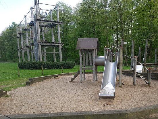 Leverkusen, Jerman: Panoramaparcours, Kinderparcours und Spielplatz