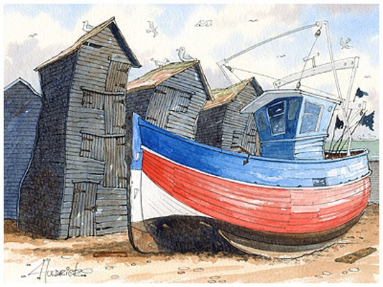 Huldrick's original watercolours and popular limited edition prints are always available. Plus you can meet the artist when the gallery is open.