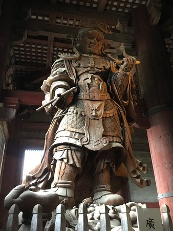 Komokuten, one of the pair of guardians in the Daibutsuden.