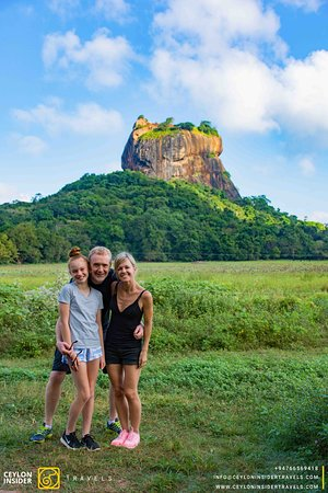 The mighty Sigiriya Rock.