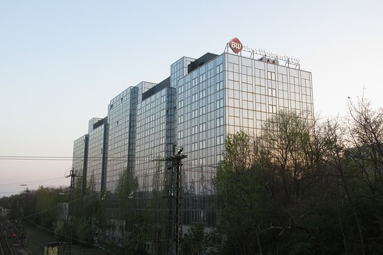 View Of The Hotel From The Nearby Bridge Picture Of Best Western Plus Plaza Hotel Darmstadt Tripadvisor