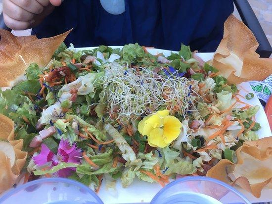 Salade miel chèvre