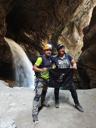 Rapel y aventura en Canon Autisha - Desde Lima: Me and our guide Hollman at Autisha Canyon