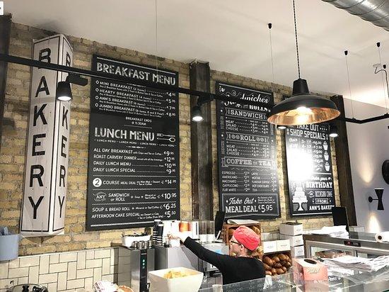 Ann's Bakery: Lunch menu.