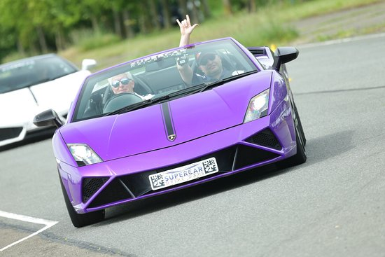Supercar Drive Days: A Lamborghini. Nice colour, but my wife likes it!