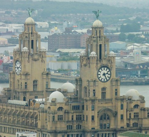 The liver building as seen from the viewing platform of the St John's Beacon