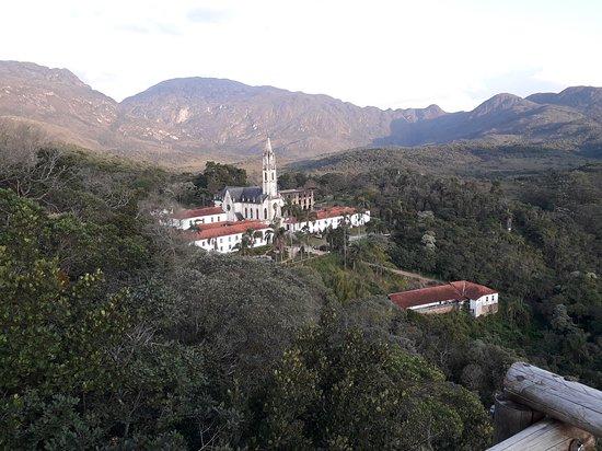 Catas Altas, MG: View of the santuario from the nearby Cruzeiro.