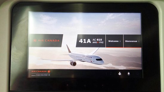 Air Canada: the screen