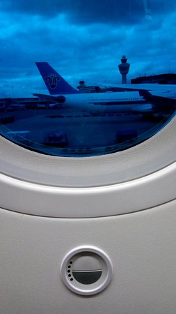 Air Canada: the window (almost closed)