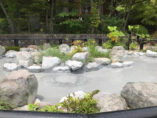 Boiling mud pool at Oniishi Bozu Jigoku