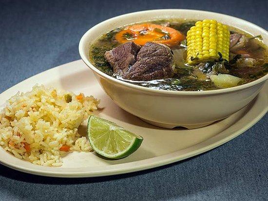Mi Casa De Sabor Bar & Grill: Beef and bone Soup