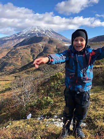 Vilyuchik Volcano: На фоне Вилючинского вулкана